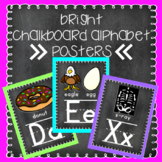 Bright Chalkboard Alphabet Posters