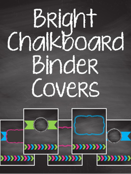 Bright Chalkboard Binder Covers