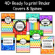 Bright Chalkboard Binder Covers Editable