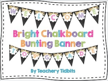 Bright Chalkboard Bunting Banner