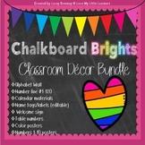 Bright Chalkboard Classroom Decor BUNDLE