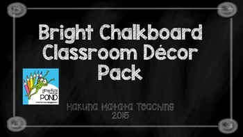 Bright Chalkboard Classroom Decor Pack