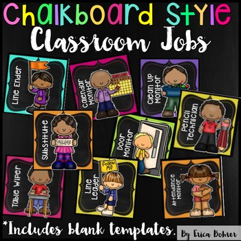 Classroom Jobs: Bright Chalkboard