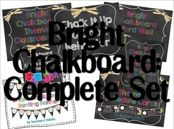 Bright Chalkboard Classroom: The Complete Set