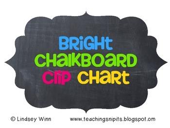 Bright Chalkboard Clip Chart