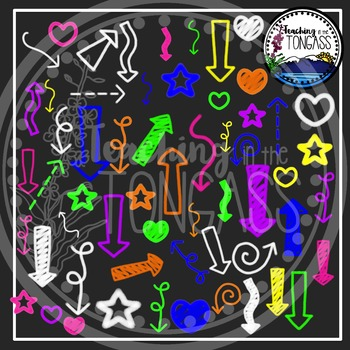 chalkboard elements clipart by teaching in the tongass tpt
