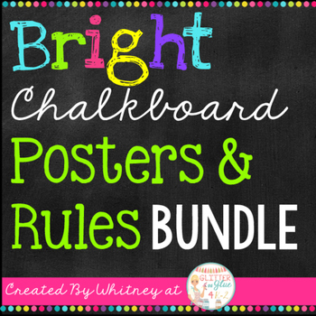 Bright Chalkboard Posters and Rules Bundle