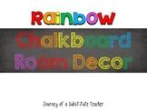 Rainbow Chalkboard Room Decor Pack