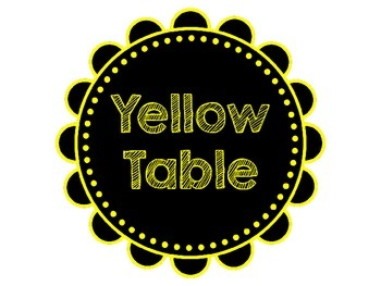 Bright Chalkboard Table Labels