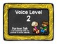 Bright Chalkboard Voice Level and Volume Chart Display Poster