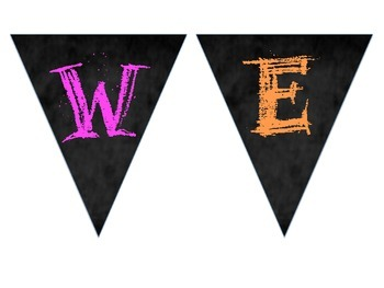 Bright Chalkboard Welcome Banner