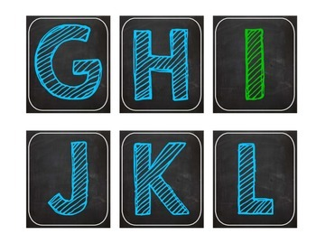 Bright Chalkboard Word Wall Letters