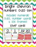 Bright Chevron 10s Frame Number Set (0-20)