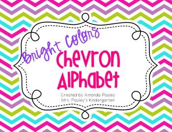 Bright Chevron Alphabet