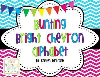 Bright Chevron Alphabet Bunting