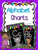 Bright Chevron and Black Alphabet Charts