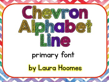 Bright Chevron Alphabet Line