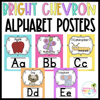 {Bright Chevron} Alphabet Line with Pictures