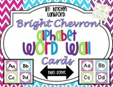 Bright Chevron Alphabet Wordwall Cards