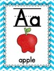 Bright Chevron Alphabet and Number Posters