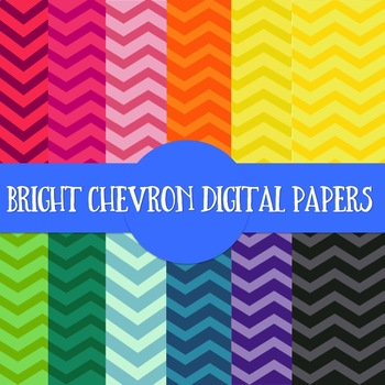 Bright/Chevron Backgrounds & Digital Papers Personal & Commercial Use