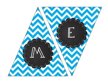 Bright Chevron Banner and Welcome Banner