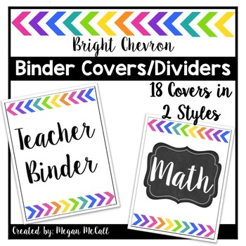 Bright Chevron Binder Covers and Dividers