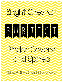 Bright Chevron Binder and Spine Covers (Subjects)
