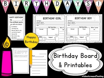 Bright Chevron Birthday Board & Printables {EDITABLE}