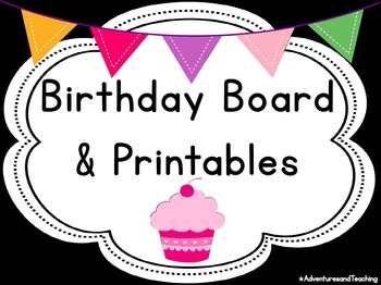 Bright Chevron Birthday Board & Printables {EDITABLE}