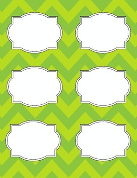 Bright Chevron Blank Labels *LIME GREEN*