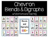 Bright Chevron Phonics Blends and Digraphs Posters