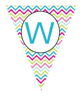 Bright Chevron Bunting Welcome sign