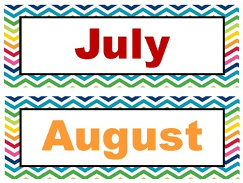 Bright Chevron Calendar & Classroom Jobs Set