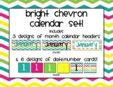 Bright Chevron Calendar Set