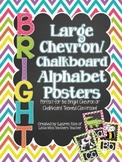 Bright Chevron Chalkboard Alphabet Posters