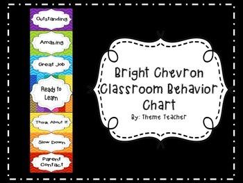 Bright Chevron Classroom Behavior Management Chart