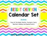 Bright Chevron Classroom Calendar Set
