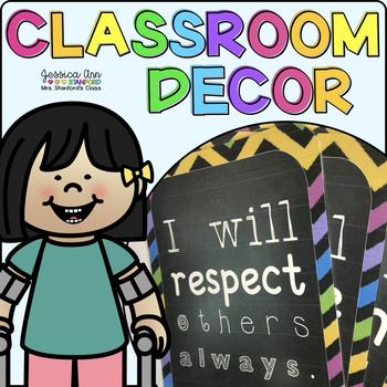 Classroom Decor - {Bright Chevron}