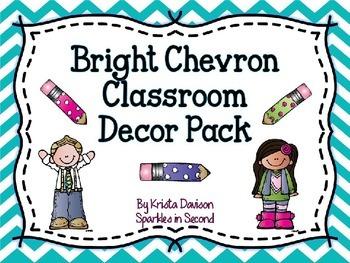 Bright Chevron Classroom Decor Pack