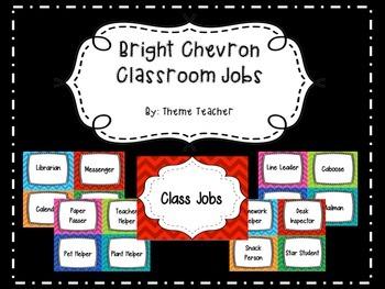 Bright Chevron Classroom Jobs