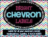 Bright Chevron Classroom Labels