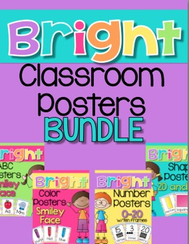 Bright Chevron Classroom Poster Set {Mega Bundle}