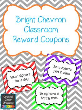 Bright Chevron Classroom Reward Coupons