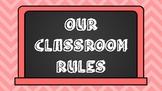 Bright Chevron Classroom Rules