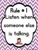 Bright Chevron Classroom Rules Posters