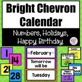 Bright Chevron Classroom Theme Decor Calendar Set