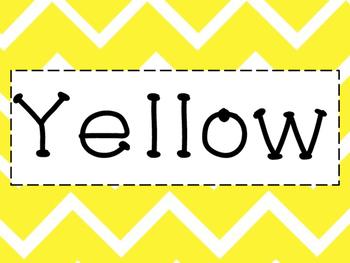 Bright Chevron Color Cards
