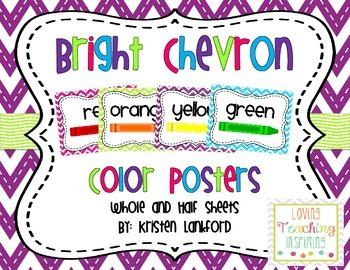 Bright Chevron Color Posters