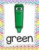 Bright Chevron Color Posters {Smiley Face}